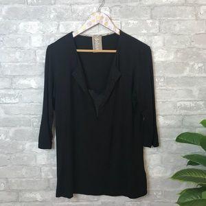 Anthropologie Dolan Black v neck blouse